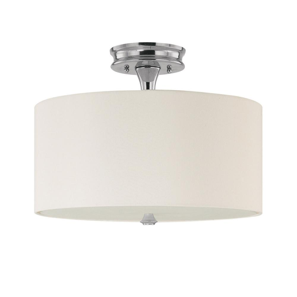 Flush Mount Drum Light: Capital Lighting 3874PN-.,Lighting